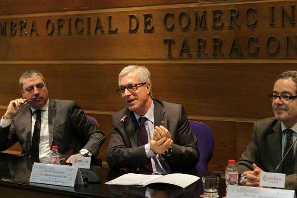 El consens territorial centra el discurs de l'alcalde Ballesteros a la Cambra de Tarragona