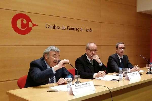 """El conseller Puig reclama """"connexió amb l'Eix de l'Ebre, amb el Port de Tarragona, i la sortida cap a Europa"""" per enfortir el desenvolupament econòmic a Lleida"""