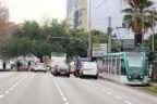 Barcelona. Fotografies del Tramvia a la Diagonal amb Francesc Macià.  Per il·lustrar el tema de la connexió del tramvia per la Diagonal que Ada Colau vol fer el 2017.