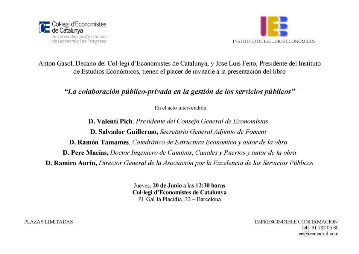 Invitacion presentación libro Colaboración publico-privada_Barcelona